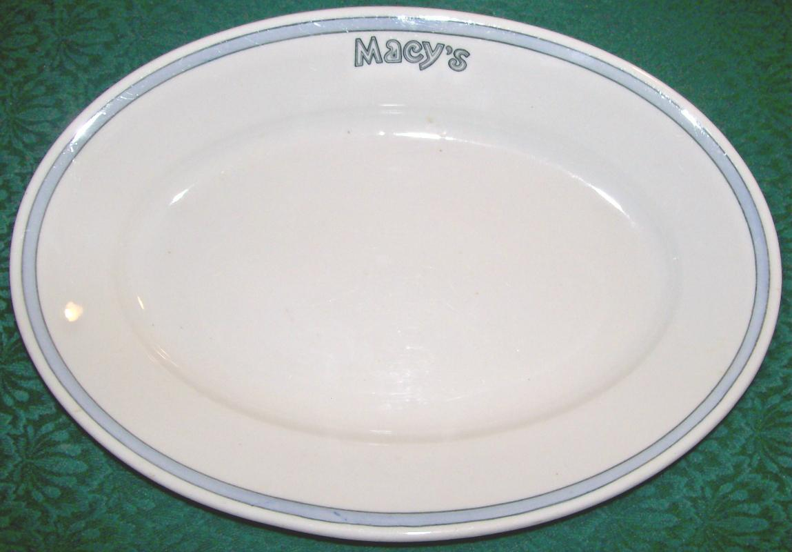 Vintage Macy's Patio Restaurant Platter 1925-29 Scammell China 13.25