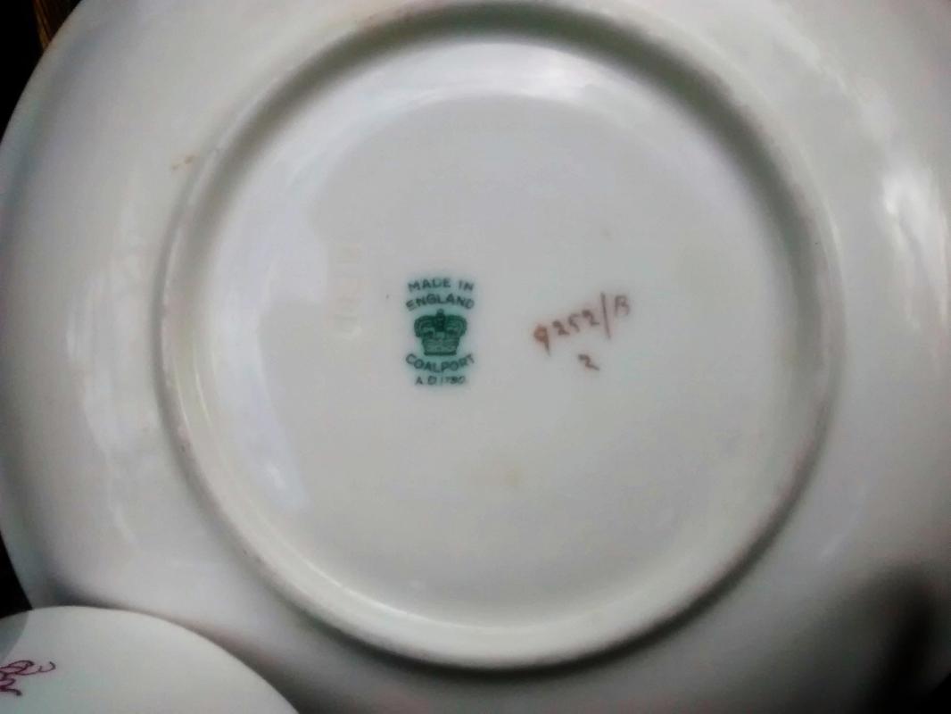 Vintage Coalport Cairo Cup & Saucer Magenta #9252