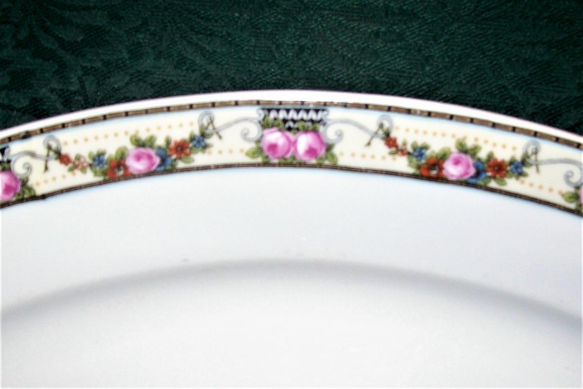 Vintage Victoria Czechoslovakia Platter VIT43 Schmidt & Co. Pink Rose 15 3/8