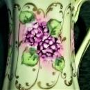 Antique Nippon Pitcher Hand Painted Violets 6