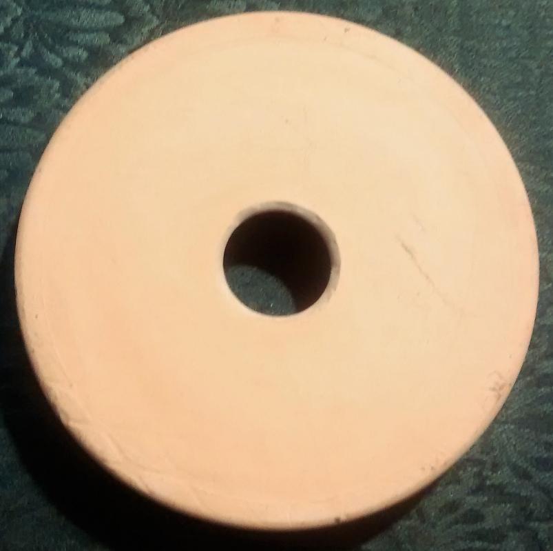 Vintage Butter Churn Stoneware Lid Only Tan Glaze