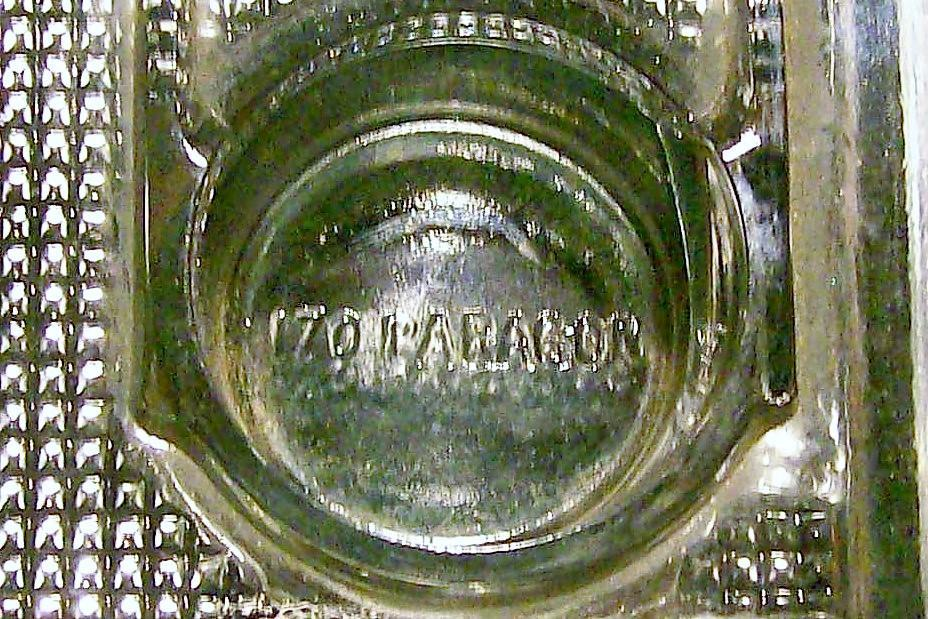 Antique Paragon Ink Stand Desk Organizer Ca. 1912 Clear Glass Frank Weeks