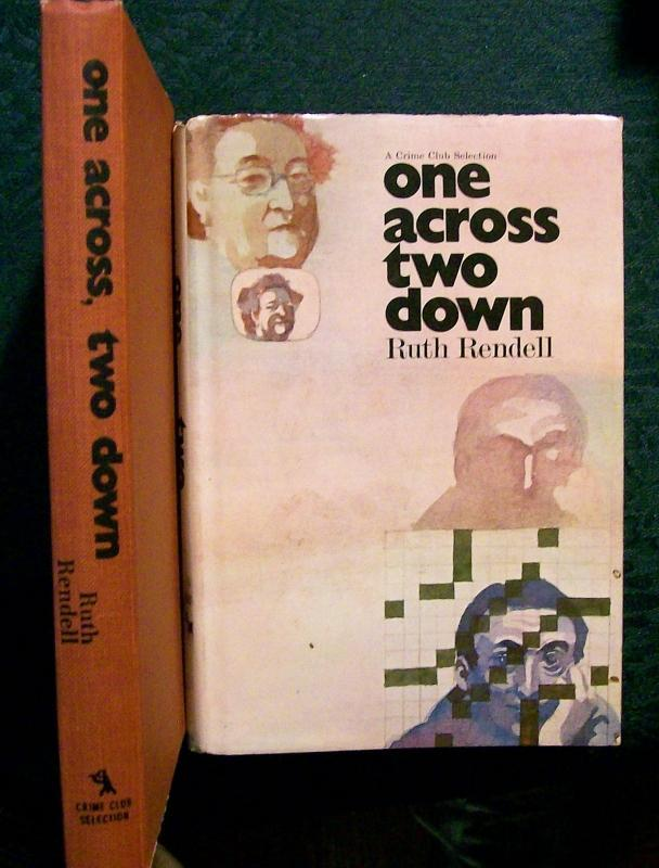 First Edition Book One Across Two Down by Rendell 1971 Mystery HB w/ DJ