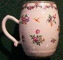Chinese Export Tankard/Mug Famille Rose Hand-painted Flowers & Insects 18thC