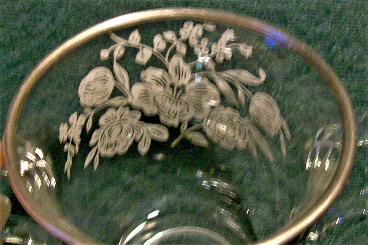 Vintage Imperial Candlewick Sterling Silver Overlay Sugar 2.75