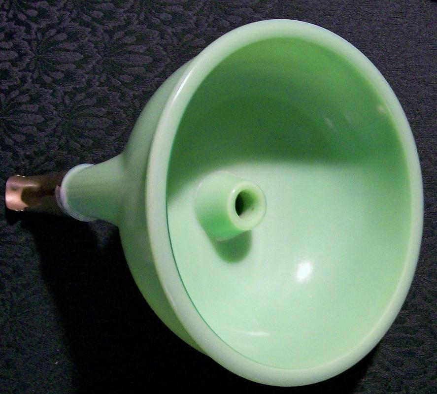 Vintage Green Clambroth / Jade-ite Top Bowl for Electric Mixer Juice Reamer