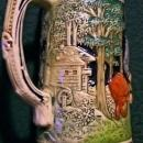 Vintage Wick German Beer Stein Musician/Zither Player 1/2L
