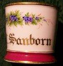 Antique Barber Shop Shaving Mug Personalized R. C. Sanborn