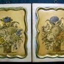 Vintage Borghese Italy Art Plaque Pair Botanicals 1940s 10