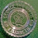 Vintage 1937 English Coronation Plate George VI & Elizabeth Pressed Glass