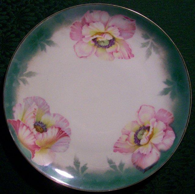 Kloster Vessra German Plate:  Pink Poppies