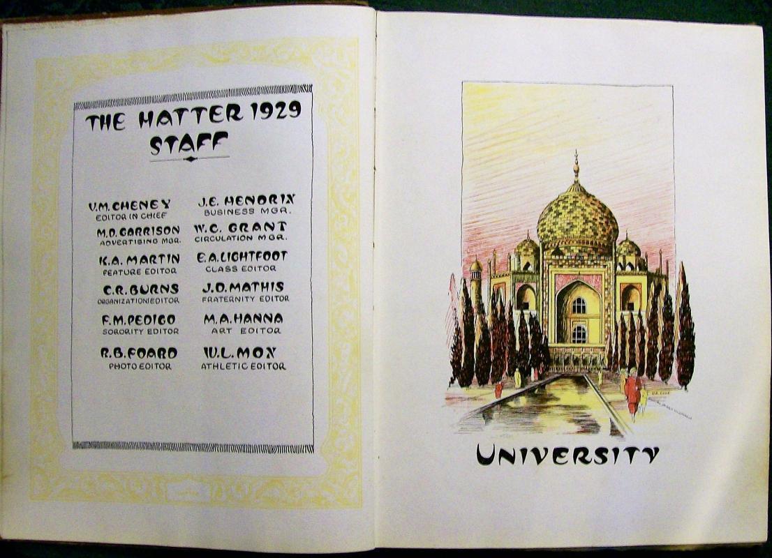 Vintage Stetson University Yearbook 1929 Deland Florida Original