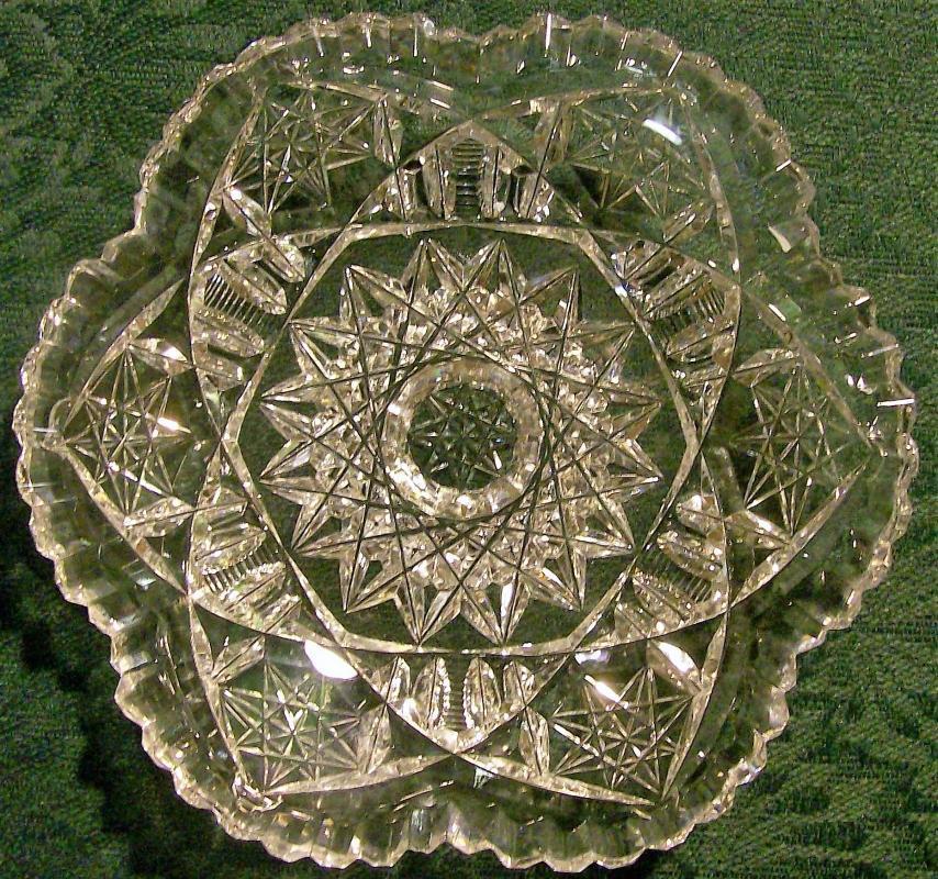 Antique Brilliant Cut Glass Ice Cream Plate ABP 5.5