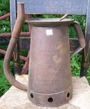 Huffman Automotive Filler Can 1950 Dayton Ohio Embossed Steel 1 Gallon
