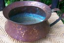 Antique Dovetailed Copper Chamber Pot Hand-Wrought 7.5