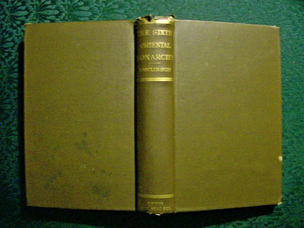 Antique Book The Sixth Oriental Monarchy Parthia George Rawlinson Ca. 1872
