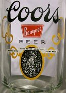 Coors Banquet Beer Advertising Tumblers 32 Oz. Pair 1970's
