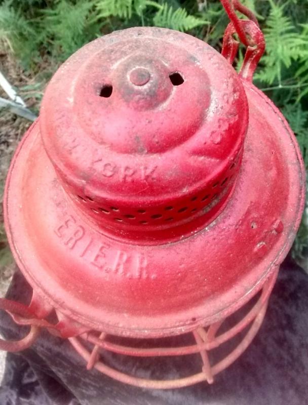 Antique Erie Railroad Lantern AS IS Ca. 1913