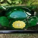 Vintage Georgia Tech University Ashtray Forest Green Anchor Hocking 1950s
