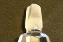 Vintage Cut Crystal Perfume Bottle with Faceted Stopper Clear 5.5