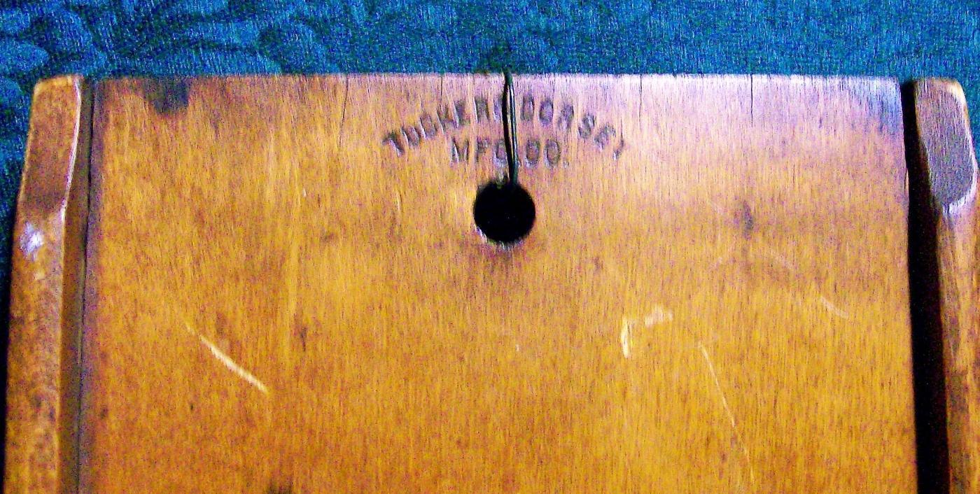 Antique Wooden Kraut Cutter Tucker & Dorsey 1890's Kitchen