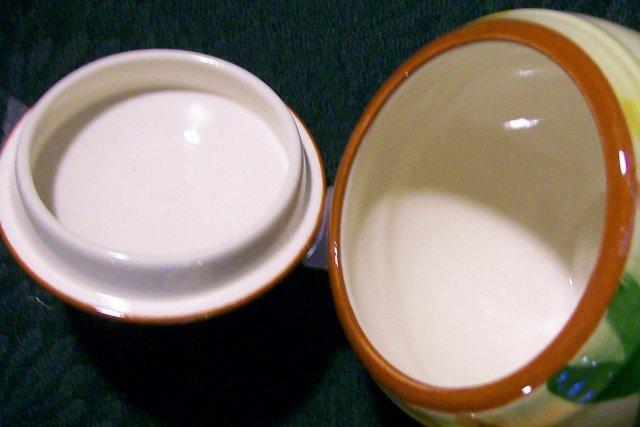 Vernon Homespun Creamer & Sugar with Lid 1940s-50s Plaid