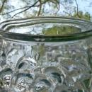 Antique Goofus Glass Puffy Vase Grapes Early 1900's 7