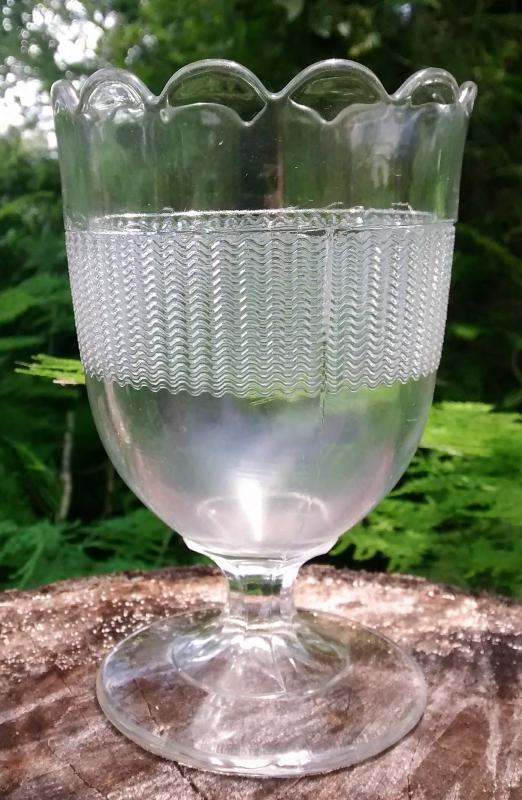 Antique Ripple Spooner Central Glass Co. EAPG Ca. 1870s