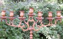 Antique Russian Brass Candelabra/Candleholder: 7 Light