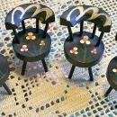 Vintage Dollhouse Chair Set/4 Hand-Painted Windsor Back 1930's-50's
