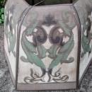 Vintage Art Deco Metal Mesh Lamp Shade 1920s Hexagon