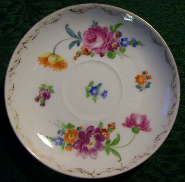 Richard Klemm Dresden Saucer: Hand-Painted