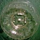 Vintage Engraved Glass Console Bowl Clear Floral 12