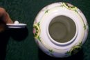 Antique Noritake Nippon Jar Black Medallion w/Roses 4