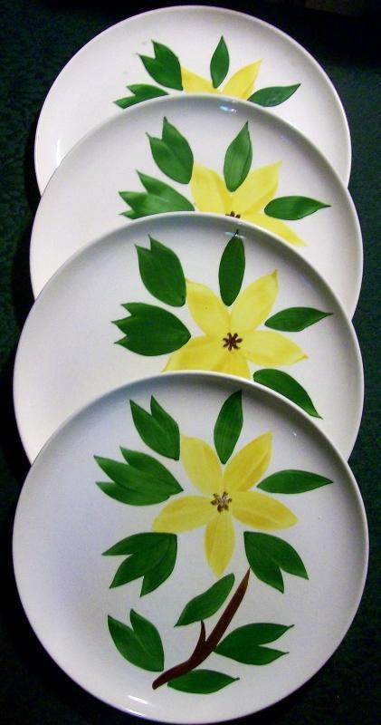 Vintage Stetson Golden Jasmine Plate Set/4 9.5