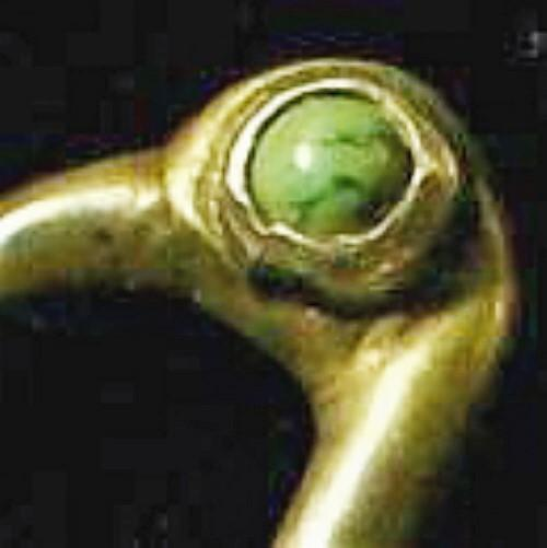 Vintage Mexican Silver Flamingo Bird Pin w/ Turquoise Eye