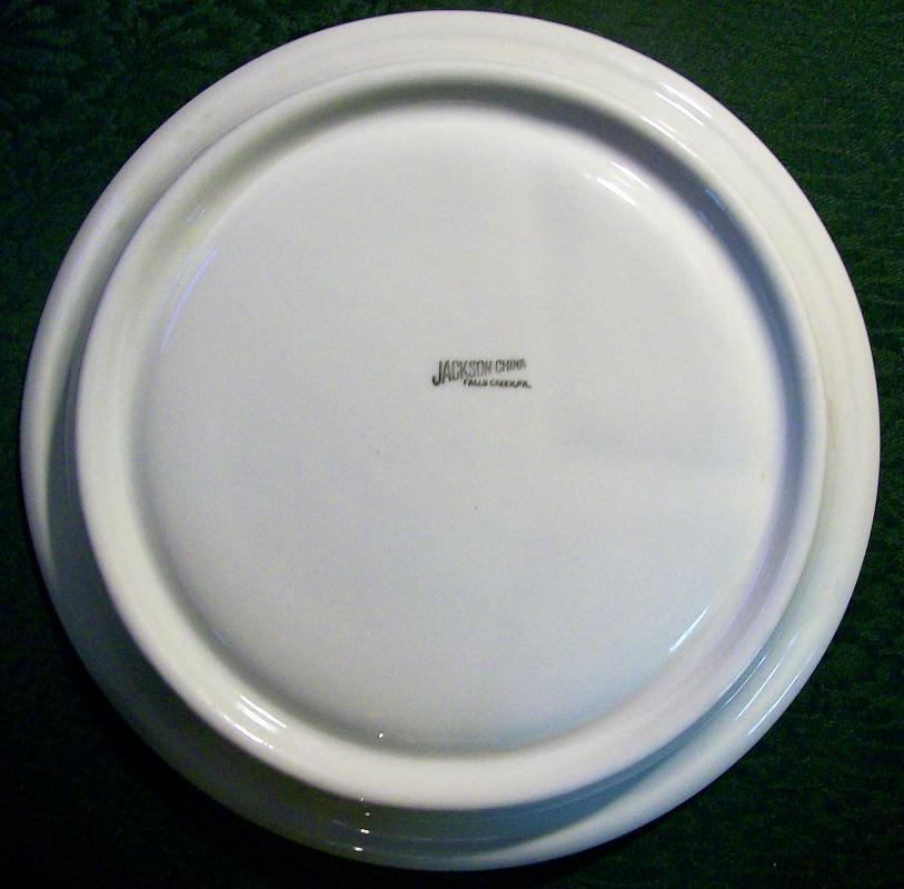 Vintage Jackson AB Duck/Cattails Grill Plate Restaurant 1946-51 Burgundy Red