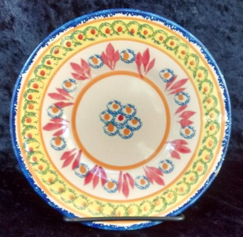 Antique Henriot Quimper Ivoire Corbeille Plate/Saucer #88 6.5