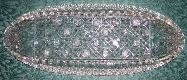 Antique Brilliant Cut Glass Celery Tray Ca. 1900