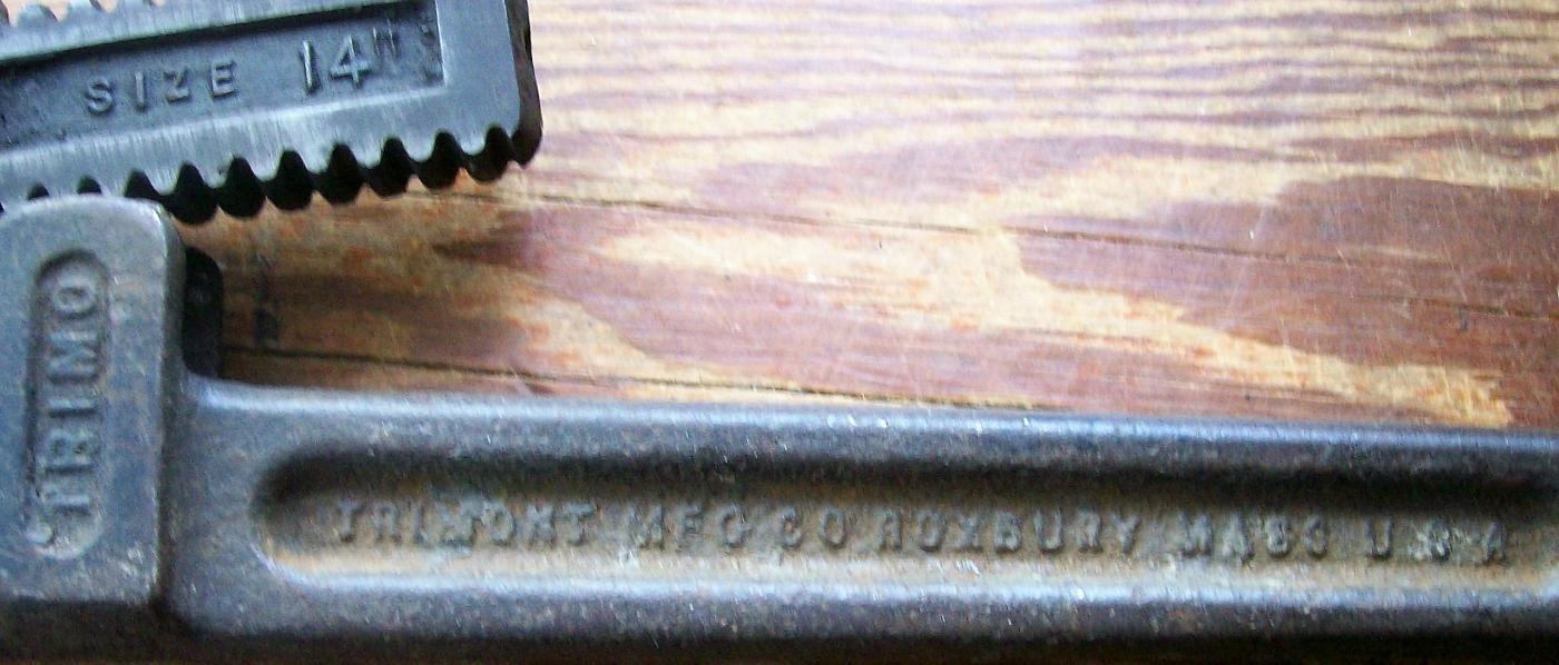 Antique Trimont Trimo Pipe Wrench #14 13