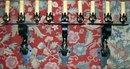 Antique Wrought Iron Sconce Set of 3 Early 1900's Rewired Electric