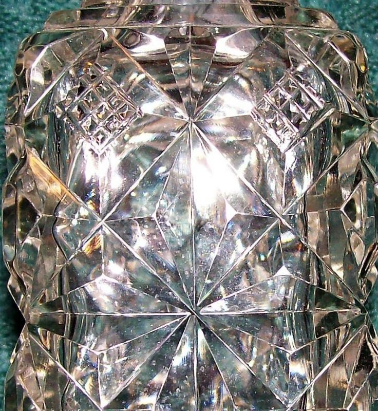 Antique Brilliant Cut Glass Cologne/Perfume Bottle NO STOPPER
