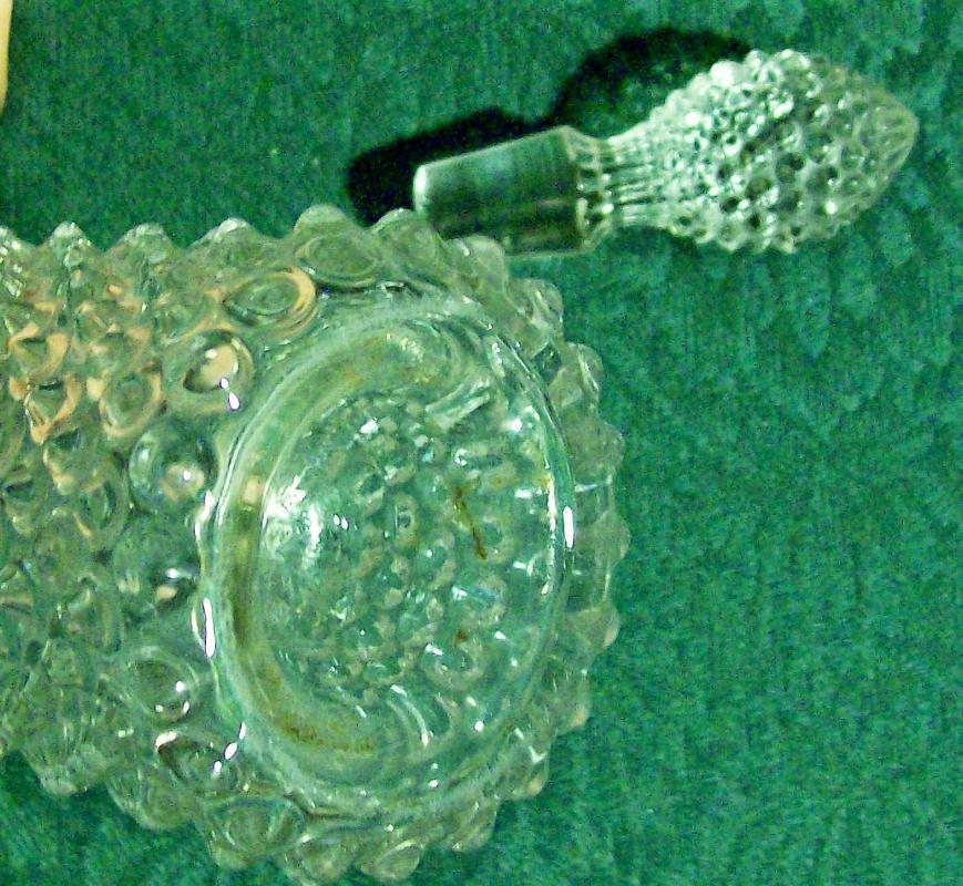 Antique Albany Model Flint Dew Drop Cruet w/Stopper 1890s