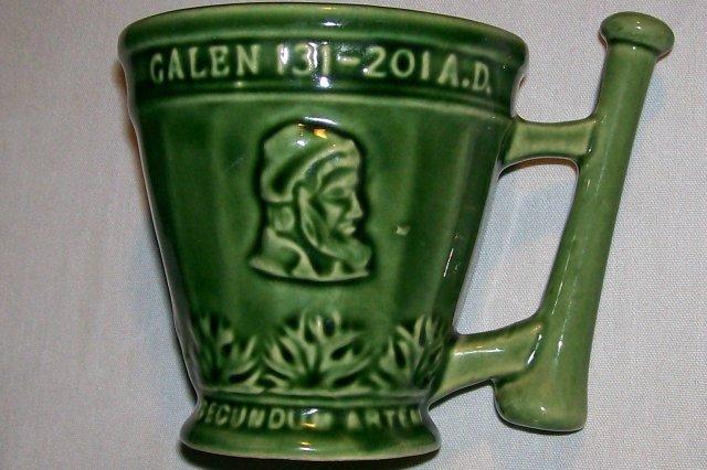 McCoy Pottery Schering Coricidin Pharmacy Advertising Mug Green 1960s-70s 4