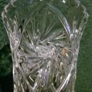 Vintage Crystal Vase Pinwheels/Star Cuttings Clear 9 3/8