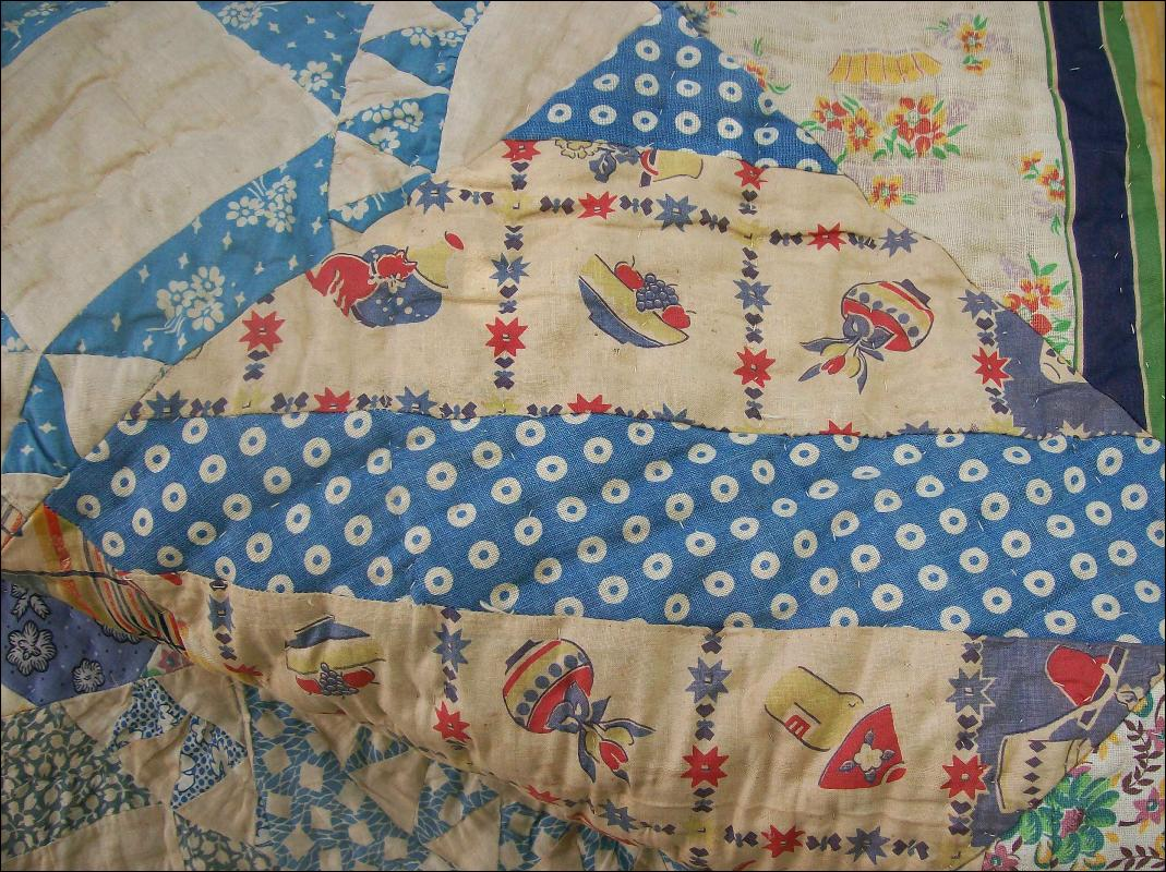 Vintage Random Pattern Quilt 1930's-50's 69