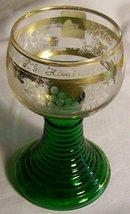 Vintage T.S. Hanseatic Passenger Ship Souvenir Roemer Wine Glass