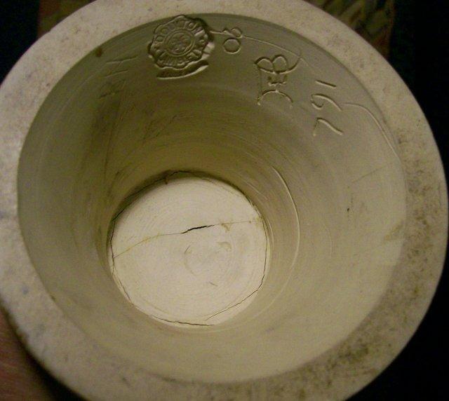 Antique Doulton Lambeth Oversized Vase Florence Barlow Birds & Thistles 20 3/8