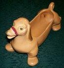 Vintage Weller Pottery Dachshund Dog Planter 1930s-40s Brown Marked