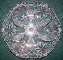 Brilliant Cut Glass Shallow Bowl